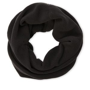 Unisex black turtlefur neck and face warmer tube